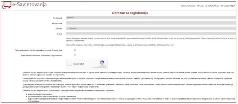 Web stranice koje se ne registriraju